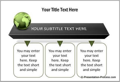3D Text boxes PowerPoint Template