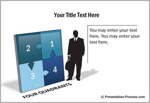 Create amazing 3d text in powerpoint 4 quadrants powerpoint template toneelgroepblik Images