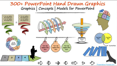 PowerPoint Hand drawn Graphics Banner