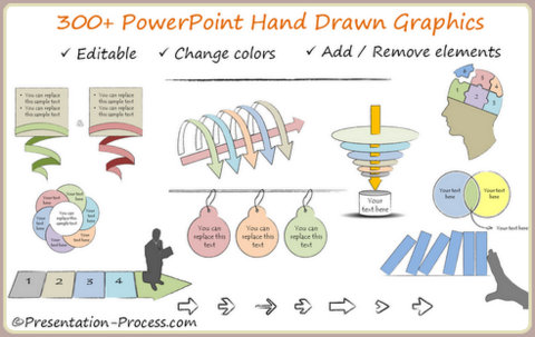 300+ Hand Drawn Graphics for PowerPoint
