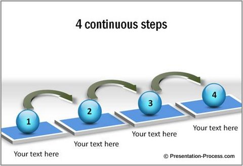 3d arrows process PowerPoint template diagrams