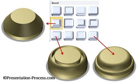 3D Button Shapes in PowerPoint