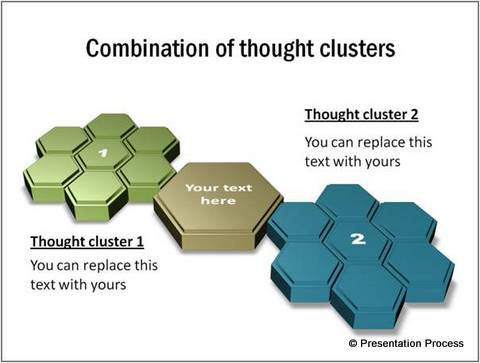 3D Cluster Diagram from PowerPoint CEO pack 2