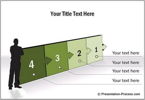 3D PowerPoint Arrow Template Stages