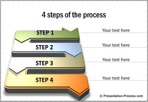cool d powerpoint arrowsprocess flow diagram template in powerpoint