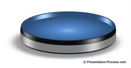 3D PowerPoint Circle Disc Image