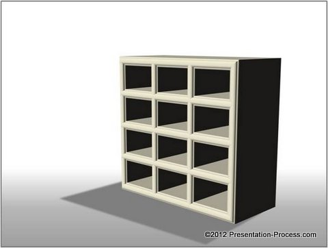 3d PowerPoint Graphic Cupboard