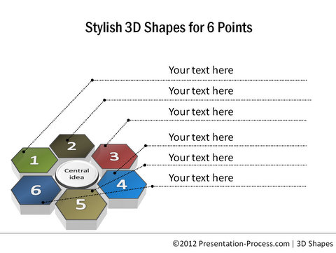 3D PowerPoint Stylish Shapes