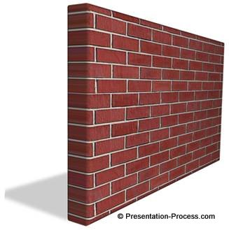 3d brick wall drawing 3d wall graphic in powerpoint 341