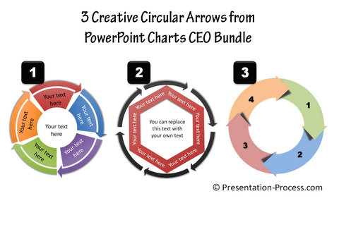 Circular arrows from PowerPoint CEO pack Bundle