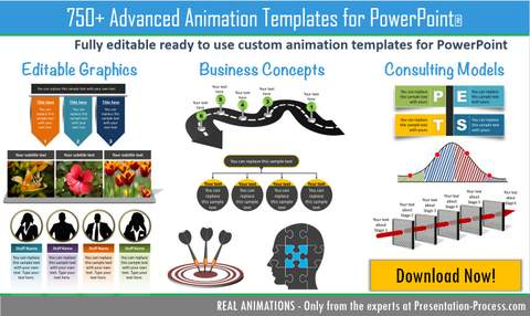 upgraded advanced animations templates pack  presentation, Powerpoint