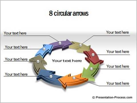 cyclical arrows powerpoint diagram