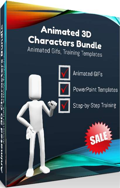 animated 3d characters bundle