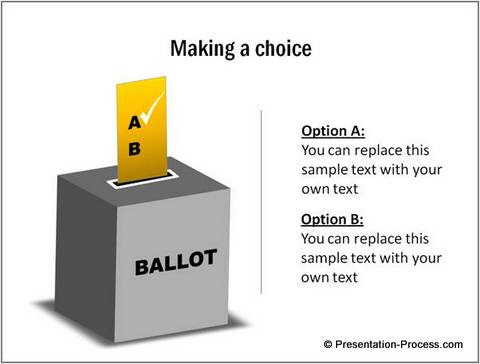Ballot Box Graphic from POwerPoint CEO pack 2