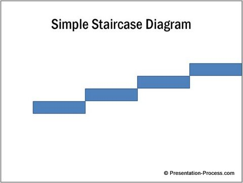 Simple Staircase Diagram In Powerpoint