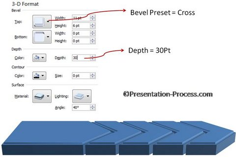 3D Steps Graphics in PowerPoint