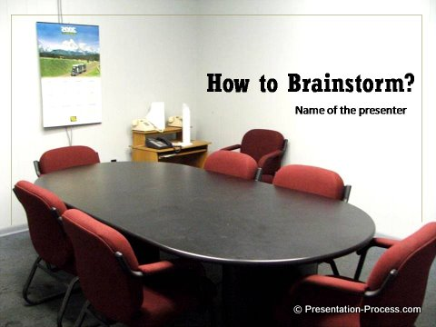 brainstorm Meeting Title Slide Design