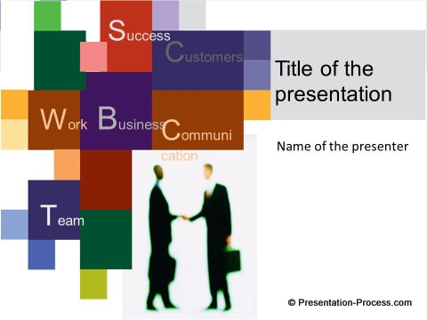 Handshake Colorful Title Slide
