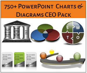 PowerPoint Charts and Diagrams CEO Pack Logo