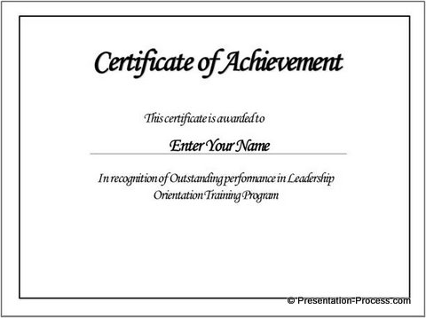 Create PowerPoint Certificate Template Easily – Printable Certificate Templates