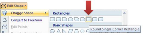 Change Shape to Rounded Rectangle
