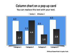Pop Up Card Graph Placeholder for PowerPoint
