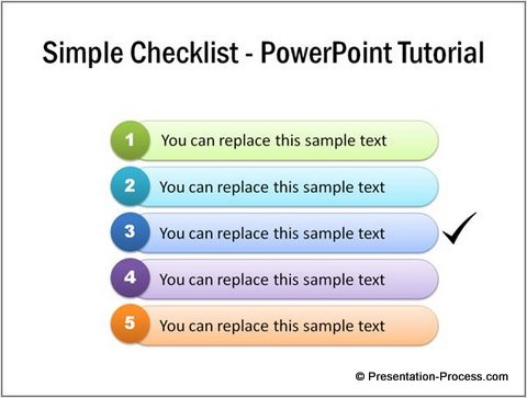 Simple Checklist PowerPoint Tutorial