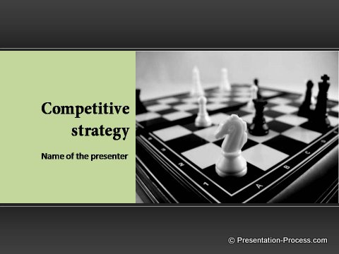chess strategy PowerPoint Title Design