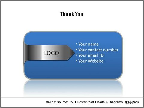 Company Logo on Thank You Slide