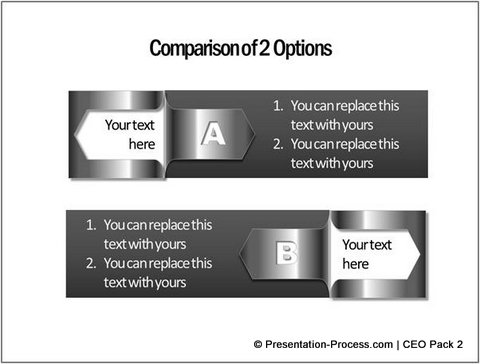 Comparison Template with Folder Corner from PowerPoint Charts CEO Pack 2
