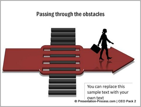 Creative  Passing through the obstacles