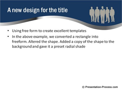 Curved PowerPoint Template Free Image