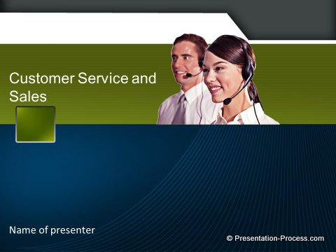 Customer Service Title Slide
