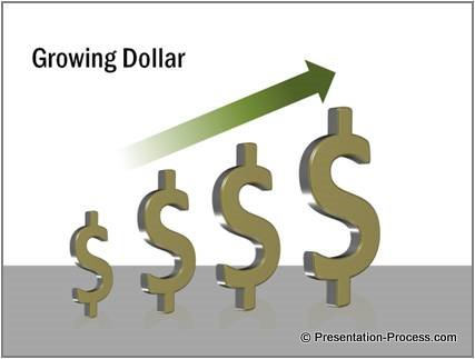PowerPoint 3D Dollar Sign