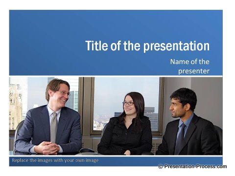 Download Free Blue colour PowerPoint Title
