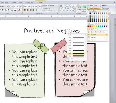 how to change shape outline weight in powerpoint