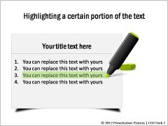 Highlighting Text Template