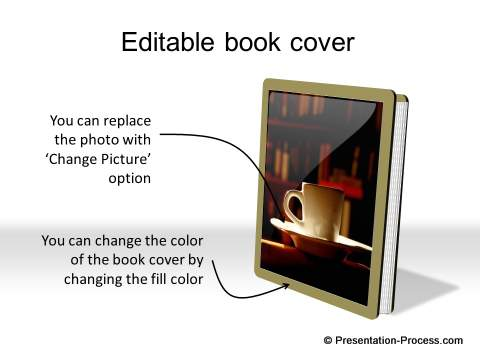 Editable book cover with shadow from CEO Pack 2