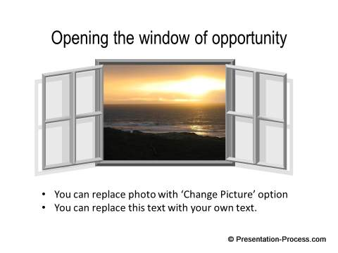 Window of Opportunity concept with shadow from CEO Pack 2