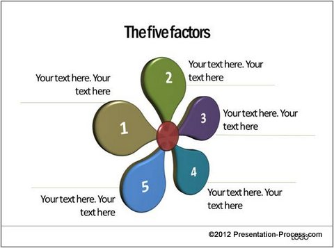 Creative five factor model in powerpoint flower diagram ccuart Gallery