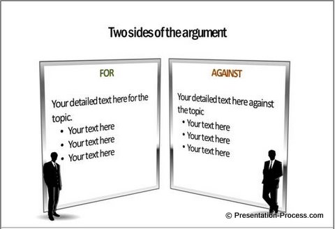 For Against PowerPoint Diagram Pack Template