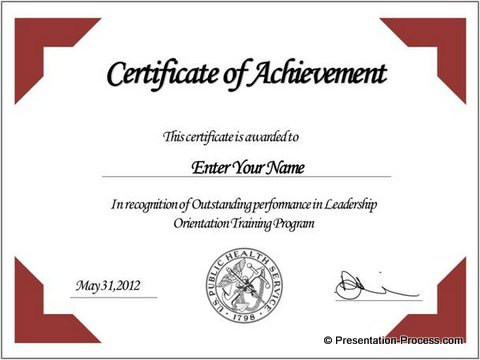 create printable certificates in powerpoint in a jiffy, Powerpoint templates