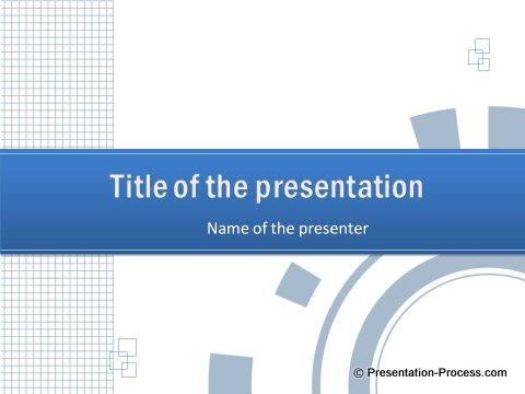 Blue Color PowerPoint Title Checked Template