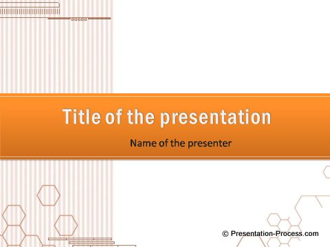 Free PowerPoint Background for Title Orange