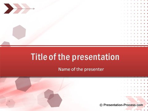 Free Red Color PowerPont Title Template