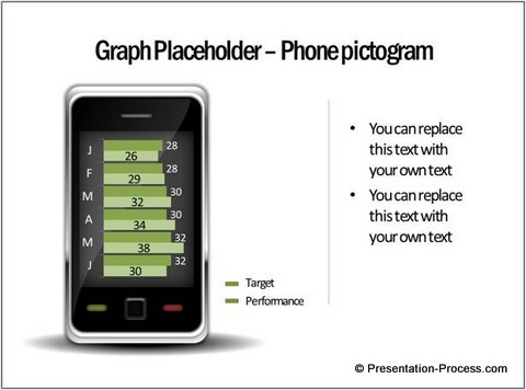 Graph in PowerPoint Pictogram Phone
