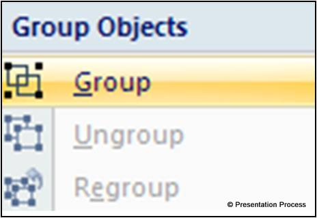 Grouping in PowerPoint