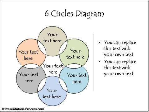 Venn Diagram 6 Circles Powerpoint Hand Drawn Models Consulting Business Diagrams
