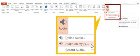 Insert Audio File in PowerPoint