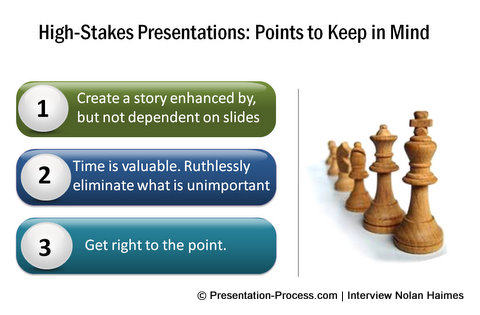key points in high stakes presentation